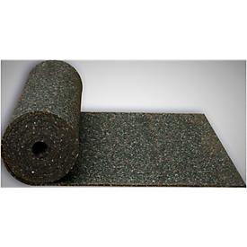 Werkplek-vloerbedekking zwart, 10 mm dik