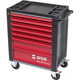 Werkstattwagen, 140 tlg., 7 Schubladen, Stahlblech/ABS, m. Handgriff, verschließbar
