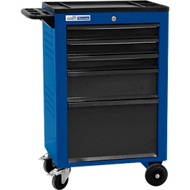 Werkstattwagen BASIC, 5 Schubladen, blau