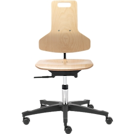 Werkstoel Industry TEC Profile, hout, in hoogte verstelbaar, zonder armleuningen