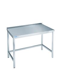Werktafel van rvs, inrijvakken, 850 x 700 x 1000 mm