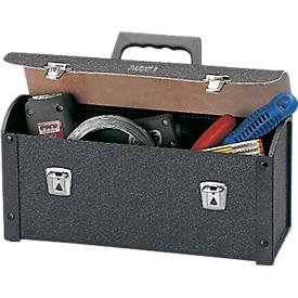 Werkzeugtasche aus Rindleder und ABS-Kunststoff