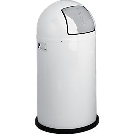 WESCO afvalverzamelaar Pushboy, 50 liter, Ø 390 x H 755 mm, wit