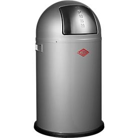 WESCO afvalverzamelaar Pushboy Junior, 22 liter, Ø 350 x H 630 mm, zilver