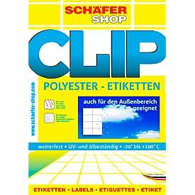 Wetterfeste Etiketten, 210 x 297 mm, transp. matt,  20 Blatt