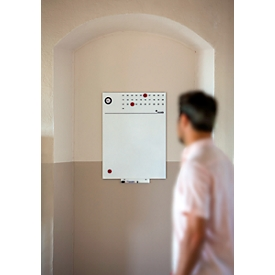 Whiteboard Skin, 550 x 750 mm, met klok en kalender
