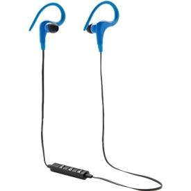 Wireless Sport Kopfhörer, kabellos, Bluetooth 4.0, optional m. Werbeanbringung, blau
