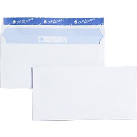 Witte enveloppen, 110 x 220 mm (DL) 80 g/m², zonder venster, 500 stuks