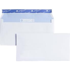 Witte enveloppen, 114 x 162 mm (C6), zelfklevend; zonder venster, 500 stuks