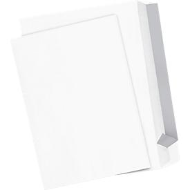 Witte enveloppen, C4 (229 x 324 mm), 100 g/m², zonder venster, klevend, 250 stuks