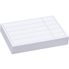 Witte etiketten voor stellingbak RK 321, RK 421, RK 421B, RK 521, RK 521B, 100 stuks