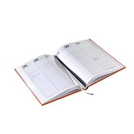 Wochenkalender, A5, 160 Seiten, B 146 x T 12 x H 210 mm, Werbedruck 100 x 80 mm, anthrazit, Auswahl Werbeanbringung optional