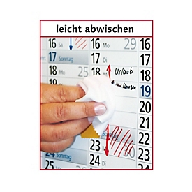 XXL-Wandplaner, abwischbar, B 1020 x H 680 mm, Werbedruck 900 x 80 mm, 100 Stück, Auswahl Werbeanbringung erforderlich