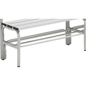 Zapatero para banco de vestuario, acero, 1015mm de largo, gris luminoso