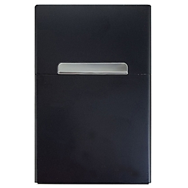 Zigarettenbox Alu, Schwarz, Standard, Auswahl Werbeanbringung optional