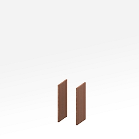 Zijpanelen X-TIME-WORK, 2 stuks, laag B 38/30 mm, notenhout-Canaletto-patroon