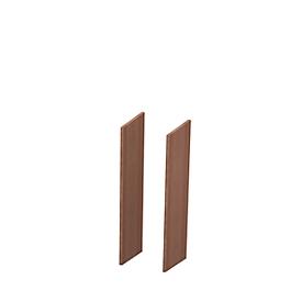 Zijpanelen X-TIME-WORK, 2 stuks, middel B 38/30 mm, notenhout-Canaletto-patroon