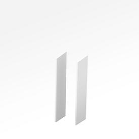 Zijpanelen X-TIME-WORK, 2 stuks, middel B 38/30 mm, wit