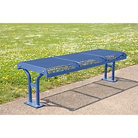 Zitbank Essen, zonder rugleuning, voetenbank, 3 zitplaatsen, om in te betonneren, paarsblauw