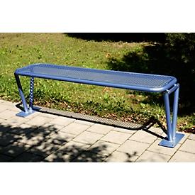 Zitbank Heidelberg, 3 zitplaatsen, voetenbank met rand, eenvoudig demonteerbaar, paarsblauw