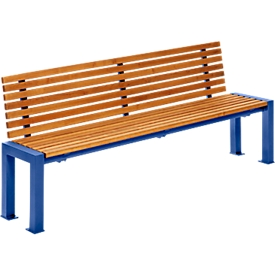 Zitbank Münster, 4 zitplaatsen, RAL 5000 paarsblauw