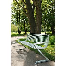 Zitbank Zürich, 4 zitplaatsen, van rvs, vrije opstelling of om vast te monteren