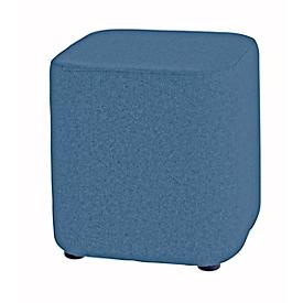 Zitkruk TAPA Square O Type, scheerwol, B 450 x D 450 x H 470 mm, blauw