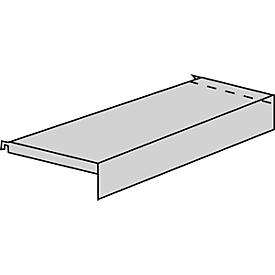 Zócalo, con cartelas, para estantería de cremallera Variabo, An 750 x P 350mm