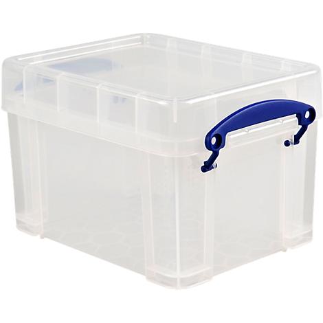 stapelbar Blaue Kunststoff-Box Really Useful Aufbewahrungsbox 84 l