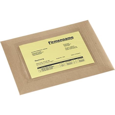 235 x 175 mm Dokumententasche DIN C5 transparent 1000 Stück transparent