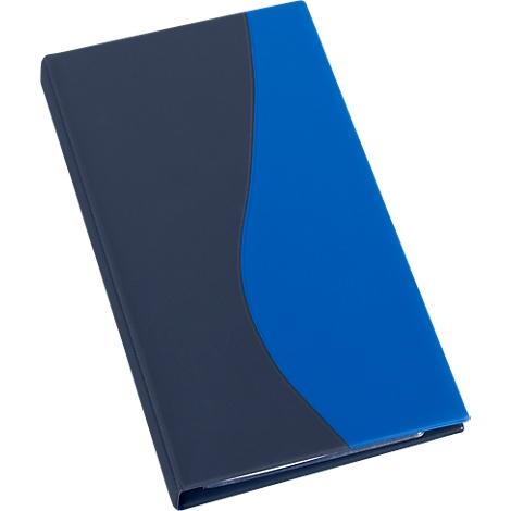 Visitenkartenbuch für 96 Visitenkarten blau Farbe