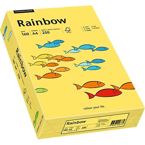 RAINBOW Kopierpapier A4 120g hellgelb 250 Bl.//Pack.