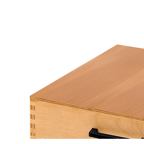 Karteitrog aus Holz Karteikasten für 1500 Karteikarten DIN A5 quer