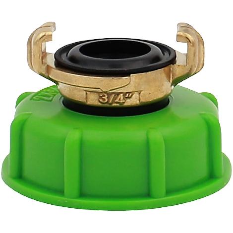 """IBC Adapter Feingewinde 2/"""" Zoll auf Grobgewinde S60x6  IBC Container Tank"""