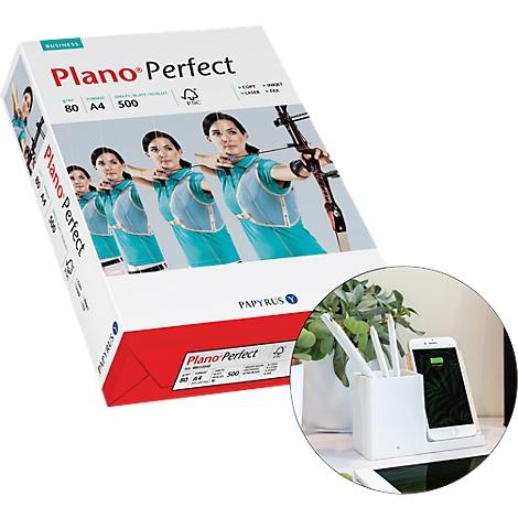 Papyrus Plano Speed Kopier-Papier 80g//m² DIN A4 2500 Blatt Weiß Drucker-Papier