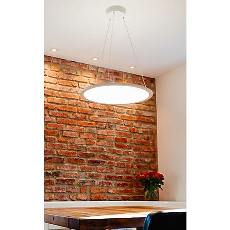 LED Pendelleuchte FRISCH Licht, 60W, 6700 lm, Lichtfarbe neutralweiß, PMMAAluminium, Ø600 x H 14 mm