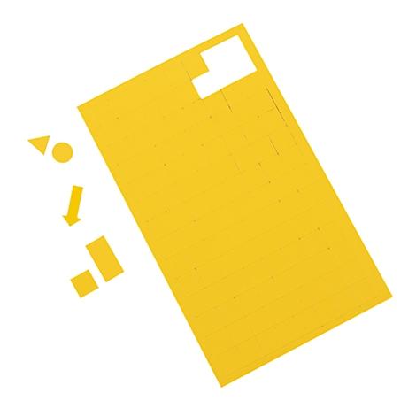 B gelb 10 mm x L 1.000 mm Inhalt: 2 Stück MAUL Magnetstreifen,