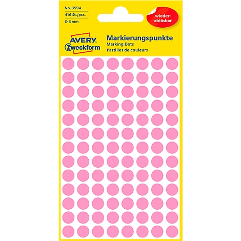 Avery Zweckform /étiquette 8/mm marquage rouge point 416st repositionnable