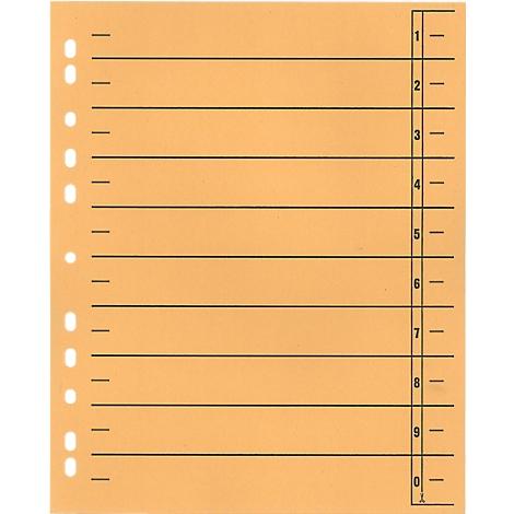 SCH/ÄFER SHOP Trennbl/ätter aus Karton mit Taben und Linienaufdruck orange 100 St/ück DIN A4