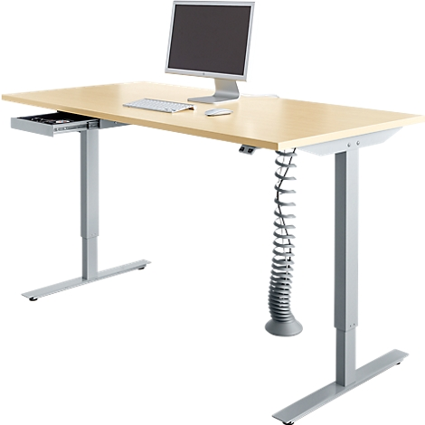 Schreibtisch Start Up, elektrisch höhenverstellbar, T Fuß