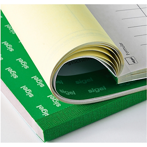 2x30 Blatt 5 St/ück selbstdurchschreibend SIGEL SD120//5 Quittungsblock f/ür Kleinunternehmer A6 quer