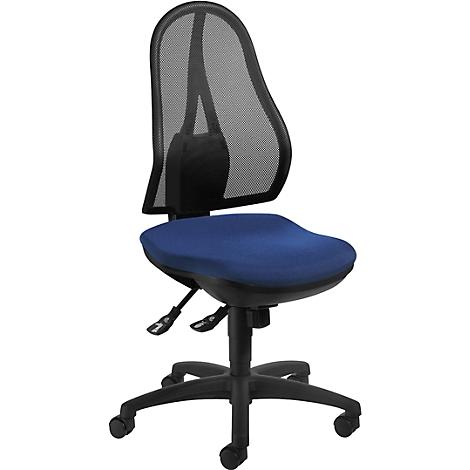 Topstar Bürodrehstuhl Open Point SY ohne Armlehnen royalblau