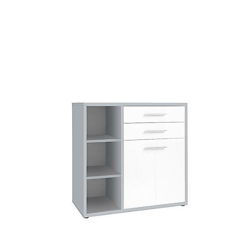 sideboard kombination player 3 regalf cher 2 schubladen 2 t ren g nstig kaufen sch fer shop. Black Bedroom Furniture Sets. Home Design Ideas