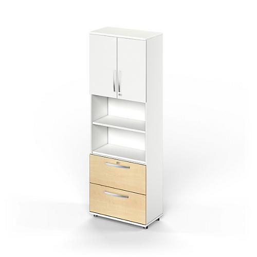 kombischrank login oben 2 ordnerh hen mit t ren mitte 2 oh regale unten 2 hr sch be g nstig. Black Bedroom Furniture Sets. Home Design Ideas