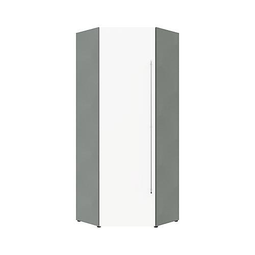 eck garderobenschrank office ii 1 kleiderstange 2 b den breite 835 mm g nstig kaufen. Black Bedroom Furniture Sets. Home Design Ideas