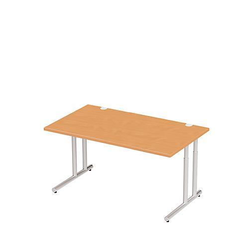 Schreibtisch combitec c fu breite 800 bis 2000 mm for Tiefe schreibtisch