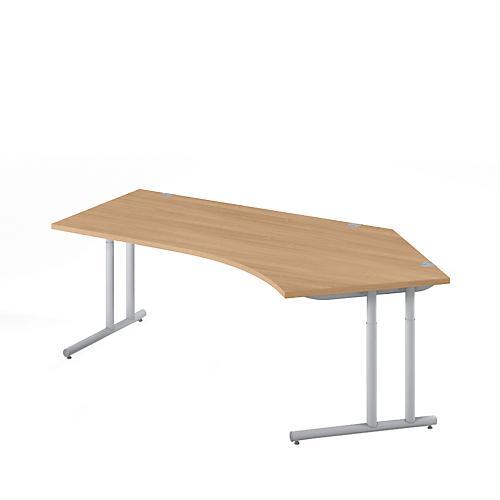 Schreibtisch combitec 135 grad h heneinstellbar versch for Schreibtisch 45 grad
