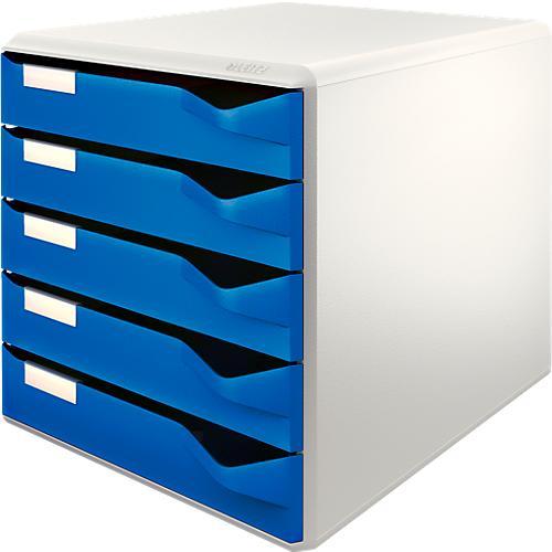 leitz schubladenbox 5 sch be din a4 polystyrol g nstig. Black Bedroom Furniture Sets. Home Design Ideas