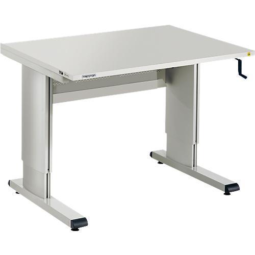 Table de travail s rie wb avec manivelle r glable en hauteur 3 largeurs acheter bon march - Table de travail reglable en hauteur ...