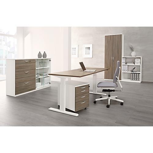 schreibtisch nevada einstufig elektrisch h henverstellbar breite 1600 oder 1800 mm g nstig. Black Bedroom Furniture Sets. Home Design Ideas